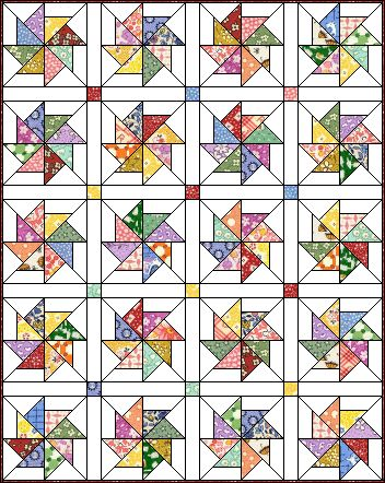 Love this quilt block pattern. Pinwheel #8 at Quilter's Cache.