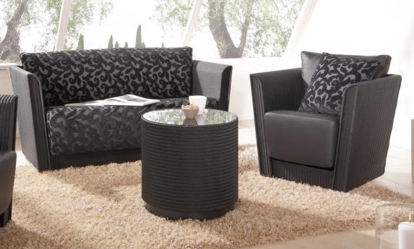 Sofa und Sessel CEBU mit Beistelltisch ROLL 02