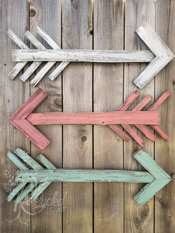 Reclaimed Wood Arrow Nursery Room Rustic by OurRecycledLife