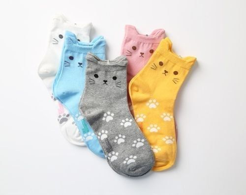 Kitty Cat Socks, $5 | 37 Awesome Things You Need To Put On Your Wishlist Immediately