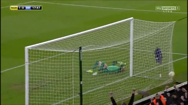 Brighton's keeper David Stockdale scores two almost identical own goals against Norwich City! [x-post /r/soccer]