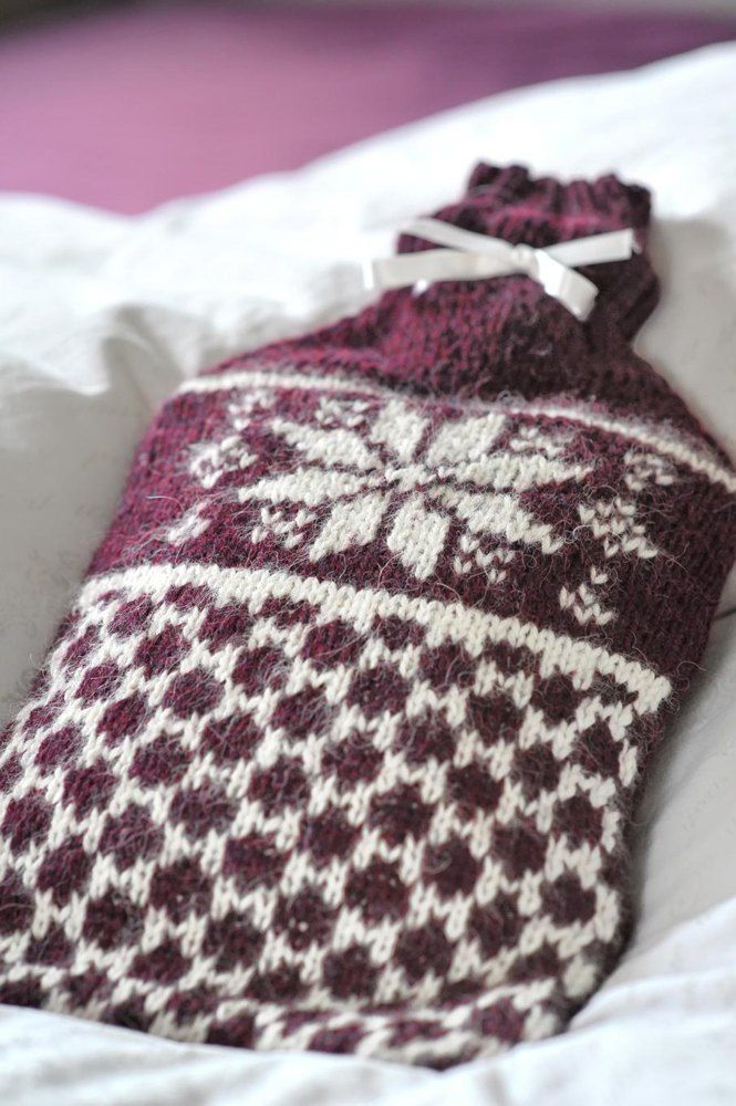 If you are familiar with knitting Fair Isle patterns this hot water bottle will be easy to knit for you! Find this beautiful winter pattern and more knitting inspiration at LoveKnitting.Com.
