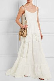 Victoriana lace-trimmed silk-chiffon maxi dress #stylingmrsoliver