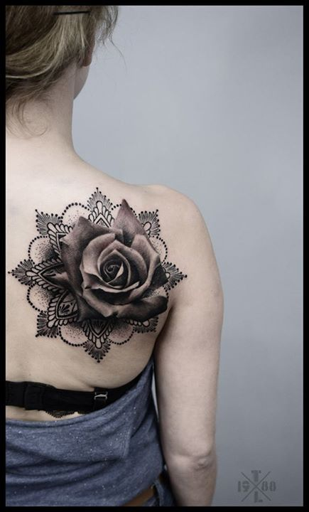 My new rose mandala tattoo, love it! <3