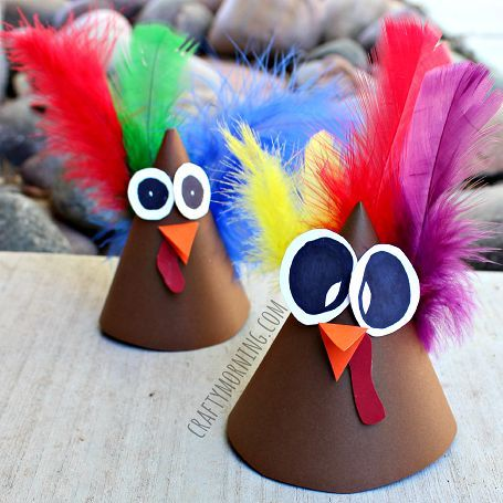 Learn how to make a turkey cone hat out of paper! It's a fun thanksgiving art project for kids to make.