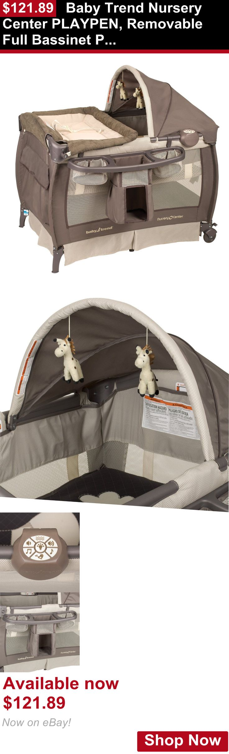 Baby Play pens and play yards: Baby Trend Nursery Center Playpen, Removable Full Bassinet Play Yard, Hudson BUY IT NOW ONLY: $121.89