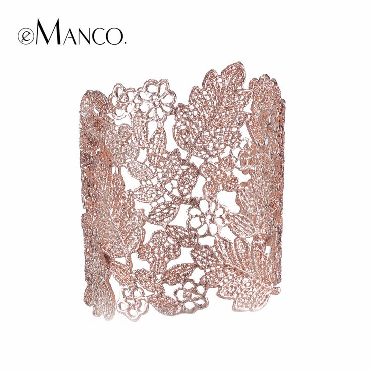 4 Colors Lace Wide Cuff Love Bangles  Bracelets for Women Rose Gold Plated Adjustable Bangle Jewelry