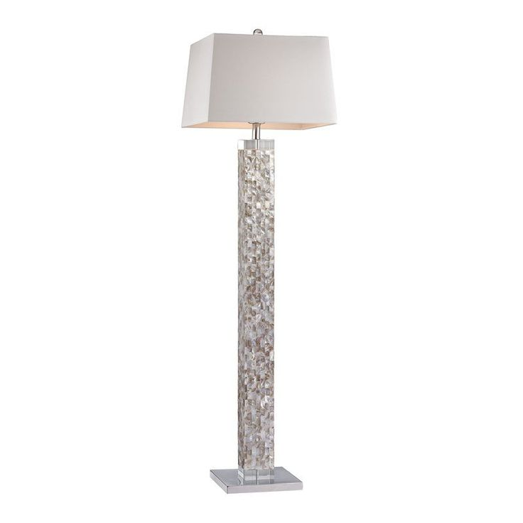 dimond lighting mother of pearl mosaic floor lamp d2896