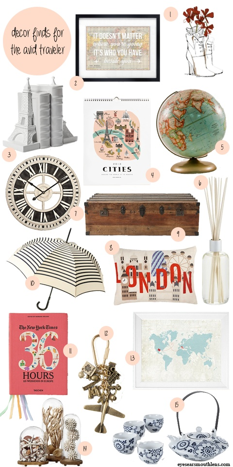 Travel Decor Inspiration By Lauren For Eyes/ears/mouth+lens