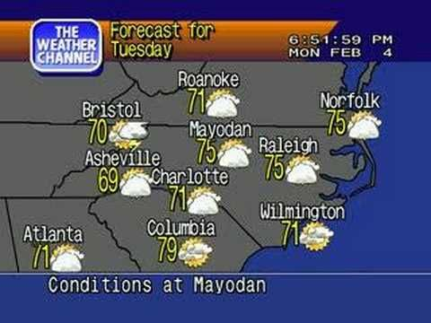 WeatherSTAR 4000 Emulator Mayodan NC-Feb  4th 2008 - YouTube