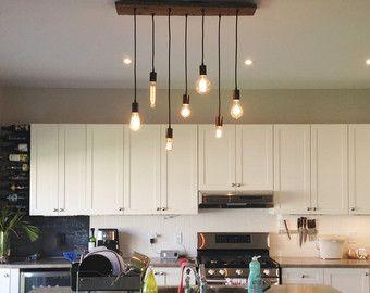 7 pendant Edison lamp industriële Chandelier hanger licht stedelijke kroonluchter teruggewonnen hout rustieke verlichting Modern dineren kroonluchter