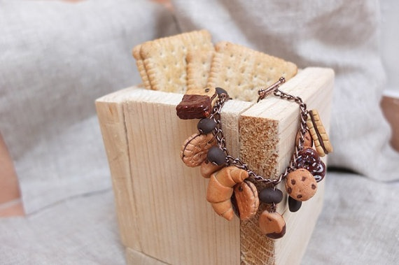 Pastry Charm Bracelet by MarylandCo on Etsy, €13.00