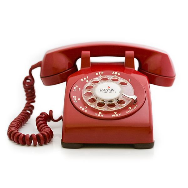 The infamous Portable Rotary Phone is an original rotary phone that has been modified to be a cellular phone. The Port-O-Rotary has a functional rotary dial, rings the original, loud metallic bells when a call is received, and even has a dial tone.