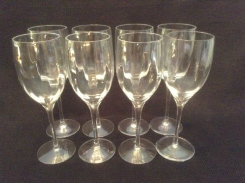 "Lenox Crystal Fantasy EIGHT Water Wine 8 1/4 "" Glasses Goblets"