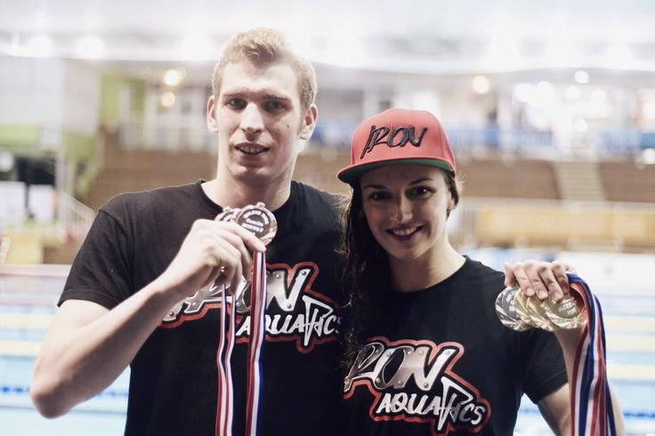The first day went really well in Nice! Dani got on the podium, twice today!He is getting there ;) #IronAquatics #IronNation #IronLady #HWAPO
