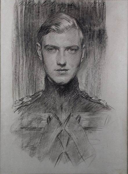 A Charcoal drawing of Robert Gould Shaw III by John Singer Sargent - Shaw (1898 – 1970) was the only son of Nancy Langhorne (later Nancy Astor) & her first husband Robert Gould Shaw II, who was the son of Quincy Adams Shaw, a wealthy Boston investor. He had long had suicidal tendencies & his life mostly went adrift from an early point. In 1931, he was imprisoned for six months for his homosexuality. His alcoholism may have increased his suicidal tendencies. On July 10, 1970 he committed…