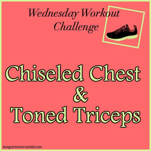 Not only will this circuit put your chest and tricep muscles to the test, but I also threw in some cardio calisthenics to really get your heart rate up and engage your core so you can burn more calories and get the most bang for your buck in one workout! http://www.hungry-runner.com/post/23174094668/chest-and-tricep-upper-body-workout
