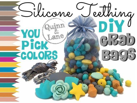 Silicone Beads GRAB BAG  Choose Colors  Loose Lot of