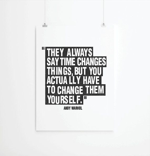 Posters poster art print andy warhol quote art by angelaferrara, $26.00