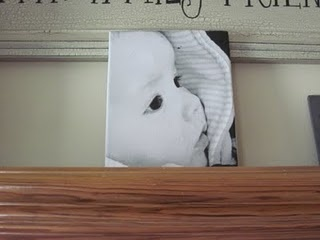 "put your photos on canvas DIY.....this would be cute to use a picture of baby feet with the bible verse ""How lovely are the feet that bring good news"""