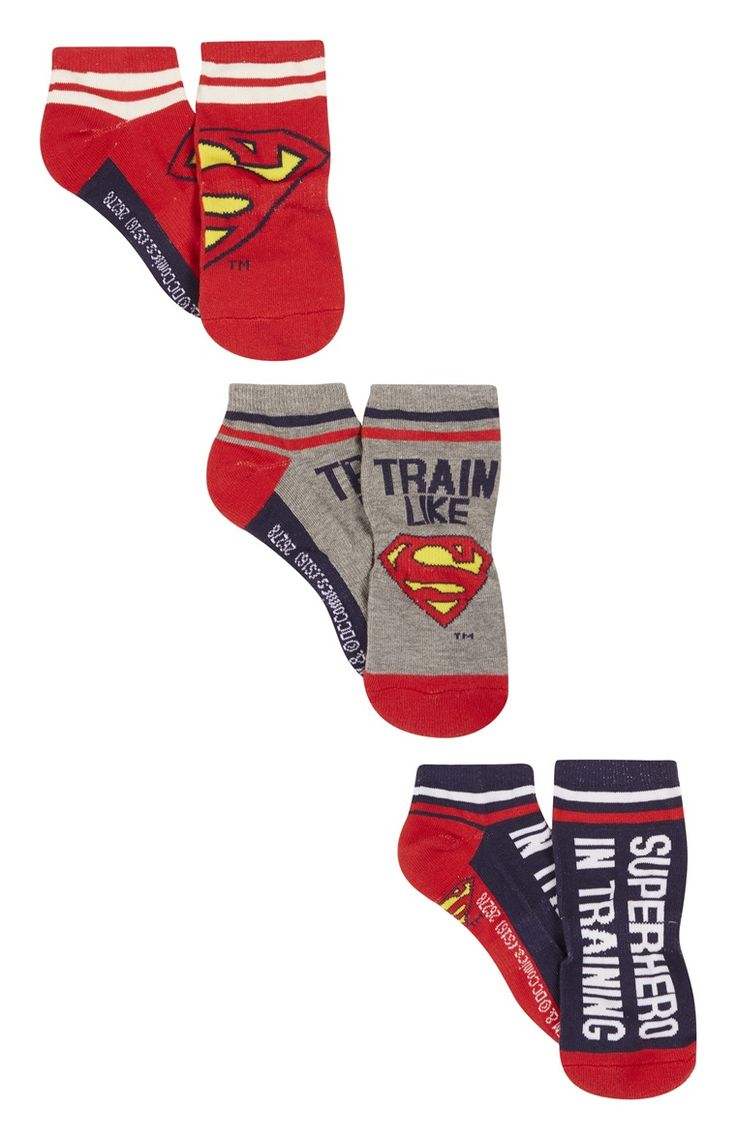3 Pack Superman Shoe Liner Socks