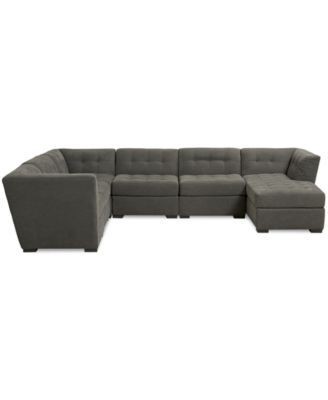 Roxanne Fabric 6 Piece Modular Sectional Sofa With Chaise, Created For  Macyu0027s