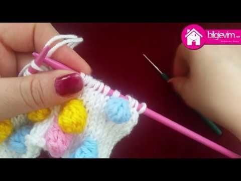 Şiş ile Ponponlu Örgü Modeli Yapılışı Videolu Anlatım