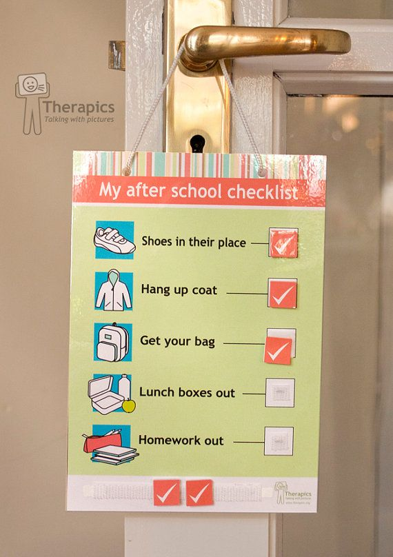 My after school checklist digital download by Therapics on Etsy, €2.50 …