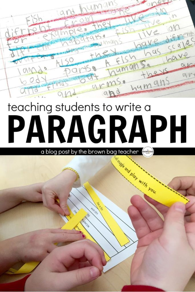 teaching students to write a paragraph. Great post out-lining how to teach paragraph writing in 1st grade.
