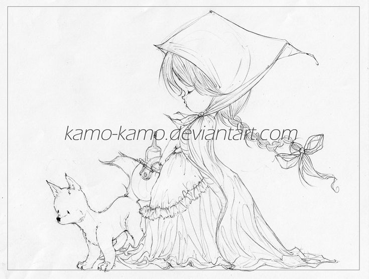_Little wolf and Riding Hood_ by kamo-kamo on DeviantArt