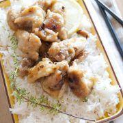 Pollo al limone con riso basmati alle erbe