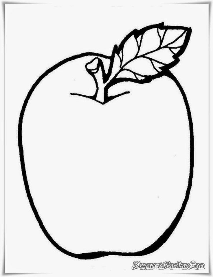 buku mewarnai gambar buah apel