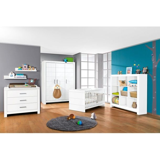 Babyzimmer Weiß/Griffe matt