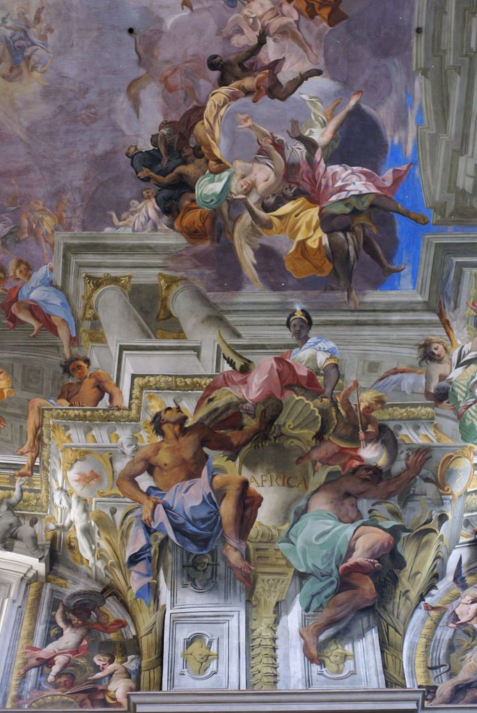 Rom, Piazza Sant'Ignazio, Kirche Sant'Ignazio, Afrika im Deckenfresko von Andrea Pozzo (St. Ignatius Church, Africa in the ceiling fresco of Andrea Pozzo)   par HEN-Magonza