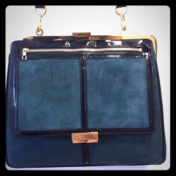 H&M x Balmain green suede bag new Brand new authentic! Sold out Balmain Bags Shoulder Bags