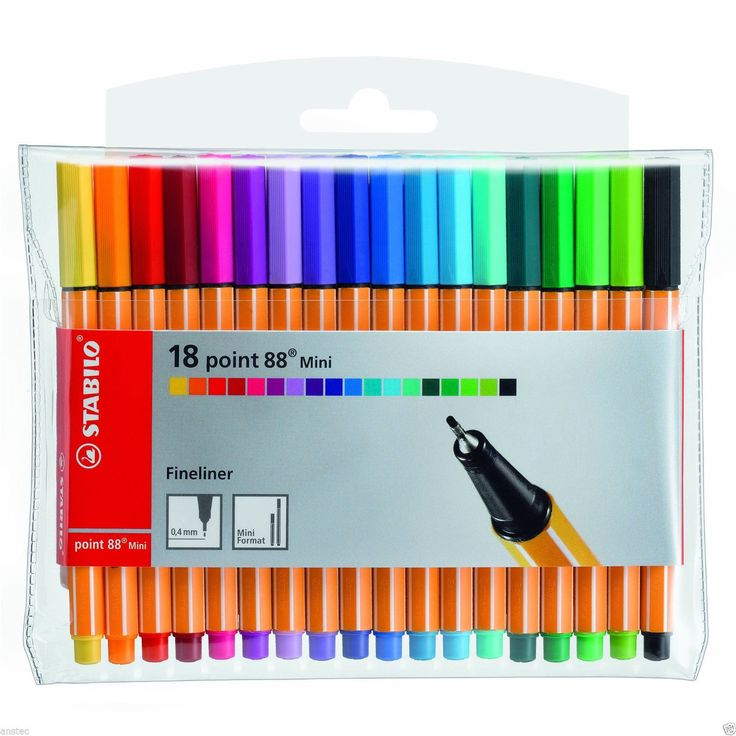 STABILO Point 88 Mini Fineliner Wallet of 18. Available in 20 brilliant colours. AUTHORISED STABILO DEALER. The universal fineliner for school children, students and professionals. About this Item. Available in 18 brilient colour. | eBay!