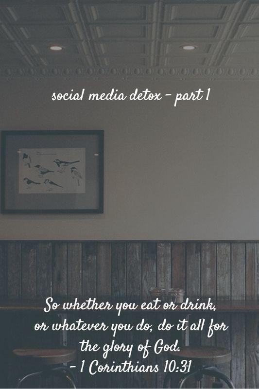 Social Media Detox, part 1