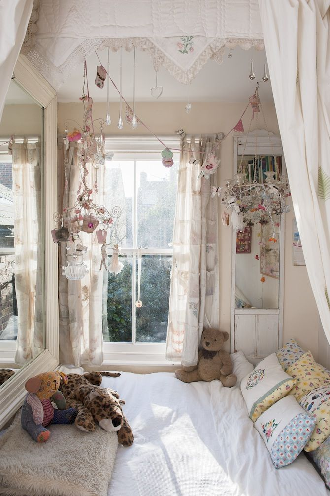 When space is small, embellish the ceiling and the air beneath...  - Jessica Zoob at home in the Wealden Time