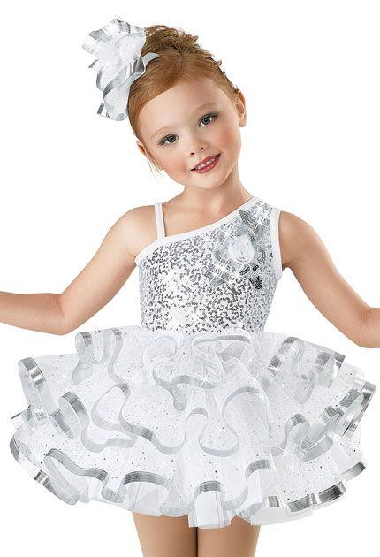Girls' Sequin Tiered Tutu Dress; Weissman Costumes