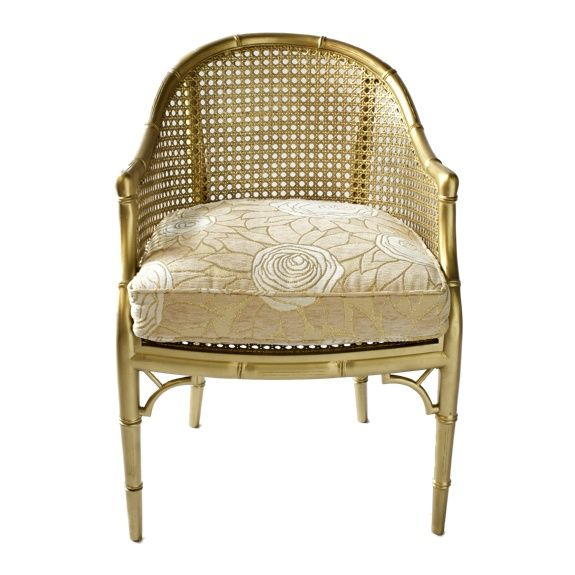Chinoiserie Chic: Gold Spray Paint + Chinoiserie = Glamour