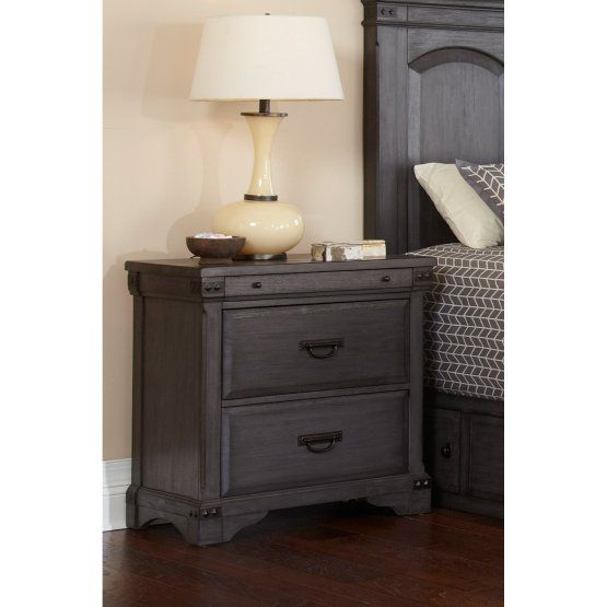 Avalon Furniture Aspen Village Nightstand With Charging Station