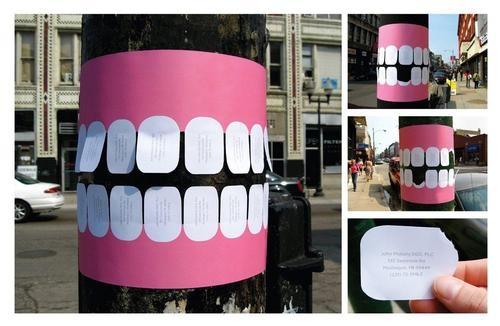 Tarjetas de visita de dentista.  --------- Dentist visit cards.