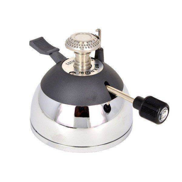 This compact butane burner is easy to use and refill and provides a perfect, controllable heat source for siphon coffee brewing