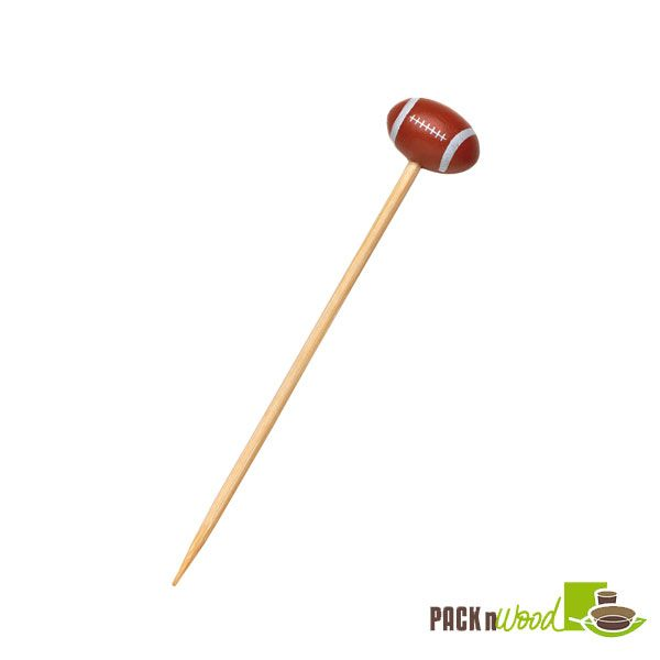 Football Bamboo Skewers - 4.72 in. - 1000 pcs/case