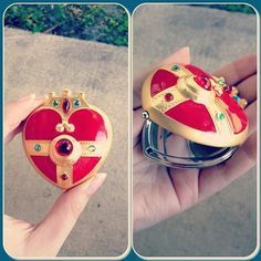 ♥♥Sailor Moon S Cosmic Heart Compact Mirror Brooch Locket♥♥ by starlight.studio on eBay