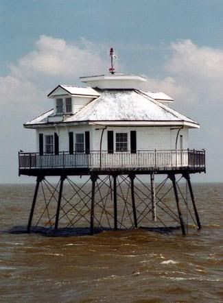 Middle Bay Lighthouse in Mobile, Alabama. Go to www.YourTravelVideos.com or just click on photo for home videos and much more on sites like this.