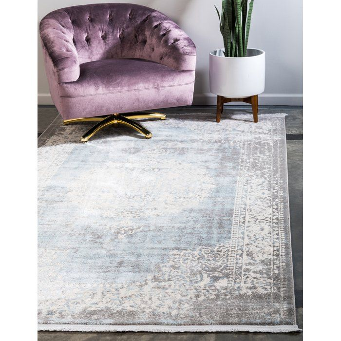 Twila Gray Light Blue Ivory Area Rug Area Rugs Vintage Rugs Rugs