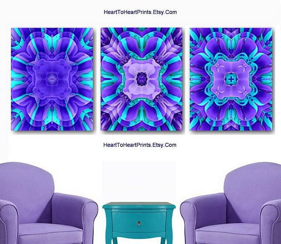 Purple Teal Wall Art Lilac Turquoise Art Prints Purple Teal Wall Art Purple Wall Art Turquoise Art