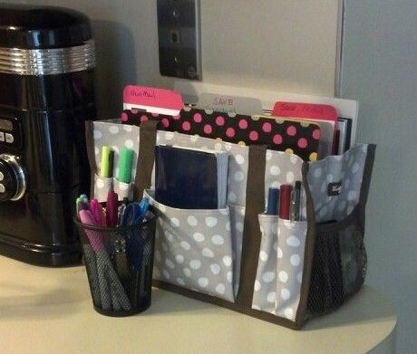 Counter top organization made easy! Thirty-one Gifts Canada Zip-top organizing utility tote
