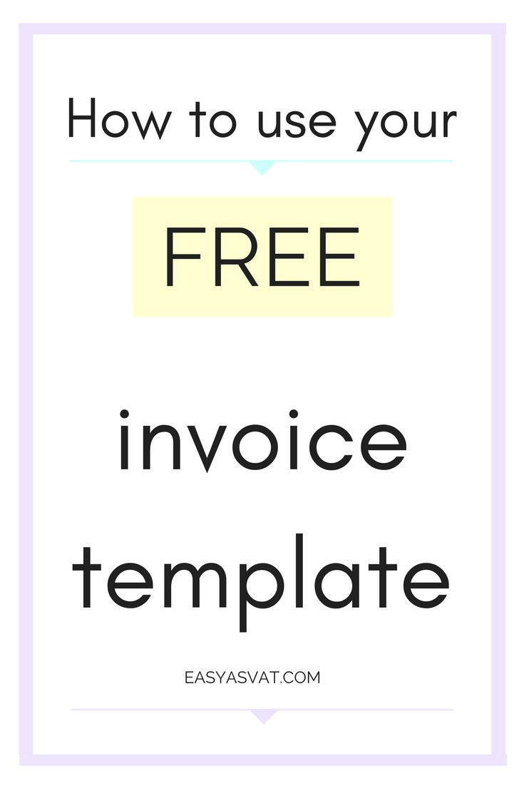 How to use your FREE invoice template | Accounting, bookkeeping and tax advice for bloggers | Easy As VAT